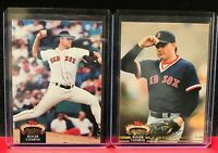 1992 Topps Stadium Club Roger Clemens 2 Card Lot 80 & 593