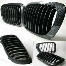 CALANDRE BMW SERIE 3 E46 COUPE CABRIOLET 4/1999-4/2003 CARBONE HARICOT GRILLE