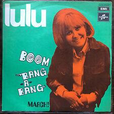"Vinyl 7""  Lulu – Boom Bang-A-Bang March Eurovision Italy   EX/EX columbia Great"
