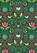 Lewis & Irene, Maya, 100% Cotton Fabric, Fat Quarter, Rainforest