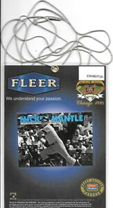 1998 CHICAGO NATIONAL CONVENTION FLEER TRADITION MICKEY MANTLE EXHIBITOR BADGE
