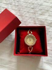Omaki Gold Diamante Quartz Watch, costume jewellery