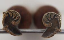 Paire de Fers à Dorer Fleuron modèle XVIIIe s. Bronze Reliure Dorure Relieur #52