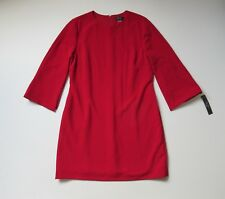 NWT Tahari ASL Cape Split Sleeve in Firebird Red Stretch Crepe Shift Dress 16