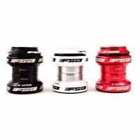 "FSA Orbit MX Threadless Bicycle Headset 1-1/8"" 34mm W/Top Cap Red Black White"