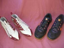 (2-pair) mens size 14 NIKE SUPER FOOTBALL CLEATS & NIKE METCON-2 TRAINING SHOES