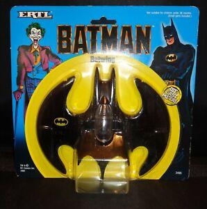 """Vintage 1989 'Batman' Movie """"BATWING"""" ERTL Die Cast Metal Toy Jet MOC #2495 1:43"""