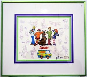 Mystery Gang Model Sheet Clampett Studio Scooby-Doo Hand Painted #160/250 Framed