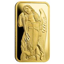 1oz. 9999 Barra De Ouro-Michael The Archangel Slays The Serpent-Certi-Lock ® #A507