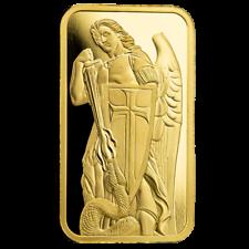 1oz .9999 Gold Bar - Miguel el Arcángel mata a la serpiente - Certi-Lock® #A507