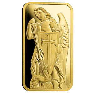 1oz .9999 Gold Bar PAMP / Scottsdale Mint Archangel Gold Bar Certi-Lock® #A507