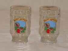 "Set of 2 Vintage German Beer ""Saint Arnold"" Glass Mugs"
