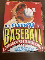 1991 Fleer Baseball Factory Sealed Wax Box - 36 Unopened Packs - FAST SHIP