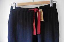 BELLEROSE NAVY & RED STRIPE COMFORT PANTS TROUSERS SIZE 1 UK 8 RRP £130 TU38