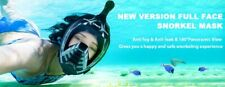 ZIPOUTE Snorkel Mask FULL FACE Black with Camera Mount 180° View Anti-Fog Adjust