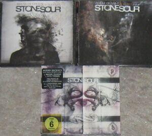 STONE SOUR – Sammlung, Paket – 3 Alben CDs, 1 DVD