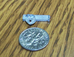 "HTF Dollhouse Miniature METAL 1:12 scale DOOR Hardware ""Vintage-style Padlock"""