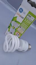 2 x GE E27 ES 20w = 88w CFL Spiral Long Life Energy Saving Lamp Light Bulb COOL