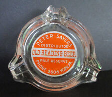 Vintage Old Reading Beer Pale Ale Reserve Glass Ashtray York, Pa