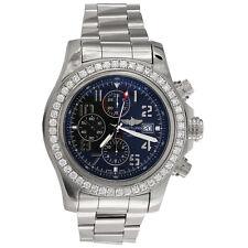Breitling A13371 Super Avenger 48mm XL Esfera Azul Reloj Automático Diamante 3.60 CT