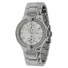 Guess Women's U12003L1 Status Silver Dial Stainless Steel Bracelet Crystal Watch