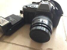 Pentax Film Camera And Flash P30