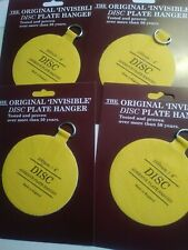 Disc plate hanger  Co Invisible Disc Adhesive Large Plate Hanger Set 4 - 4...