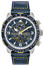 NEW CITIZEN PROMASTER SKYHAWK A-T BLUE ANGELS LEATHER WATCH JY8078-01L