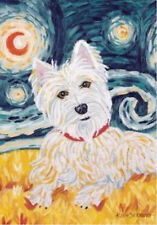 New Lg Toland Paw Palettes Flag Van Growl West Highland Terrier 28 X 40 Westie