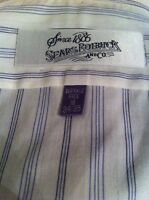 "Vintage Sears Roebuck Wrinkle Free Dress Shirt ""Size 16, 34/35"" Cotton Blend"