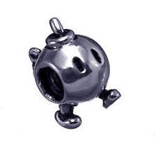 LOOK Super Mario Galaxy bomb grenade Silver jewelry bead