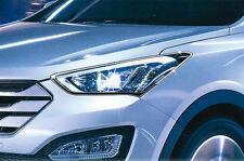 Chrome Headlight Lamp Molding Trim Cover for Hyundai 13+ Santa Fe  w/Tracking
