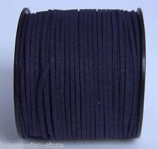 100ya 3mm dark Blue Suede Leather String Jewelry Making Thread Cords