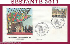 VATICANO FDC ROMA VISITA PAPA GIOVANNI PAOLO II A GROSSETO 1989 (632)