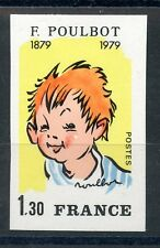 STAMP / TIMBRE FRANCE NEUF N° 2038 **  NON DENTELE POULBOT