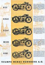 Triumph - Motorrad-Programm - Prospekt - 1938 - Deutsch - nl-Versandhandel