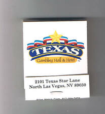 Texas Gambling Hall & Hotel Unused Matchbook North Las Vegas Nevada