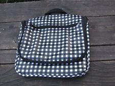 Bloomingdales Hanging Traveler Checkered Bag Cosmetic Black & White