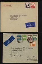 Palestine  2  large covers  to  Switzerland      MS1129