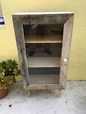 Handmade, 2-shelf, Pallet/Pine solid Wood, Floor Cabinet with Glass Door