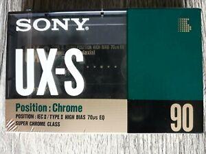 5x Sony UX-S 90 Minuten MC Musikkassetten Original eingeschweißt leer
