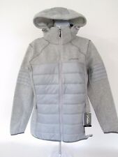 $250 Phenix Moonlight Sweater-knit/Quilted Gray Hood Insulated Winter Jacket 12