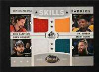 2017-18 UD SP Game Used Relic Quad Karlsson P.K. Subban Brent Burns Drew Doughty