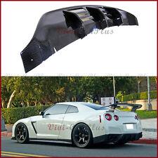 For 08-11 Nissan GT-R R35 CBA W Type Carbon Fiber Rear Bumper Replace Diffuser