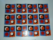 12 Unused Vintage 1950'S Signed Georges Briard Enameled Retro Tiles Mid-Century