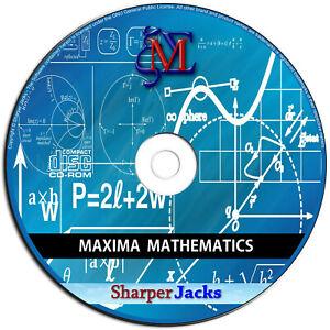 NEW & Fast Ship! Maxima Algebra / Trigonometry / Calculus Mathematics Mac Disc
