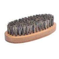 Boar Bristle Hair Brush Set and Men Beard Thin Hair Comb Mustache Brush YAD