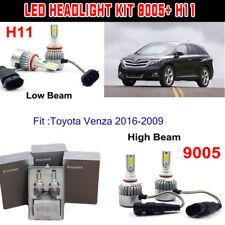 H11+9005 HB3 144W LED Headlight Kit Light Bulb For Toyota Venza 2016-2009 Hi/Low