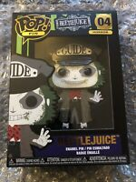 Funko Pop Large Enamel Pin Beetlejuice Horror 04 Rare Collectors