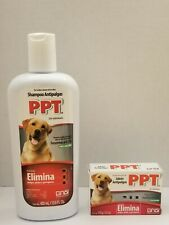 Set Ppt Shampoo &Jabon Antipulgas | 100g Dog and Cat Flea Treatment 400ml/100gm